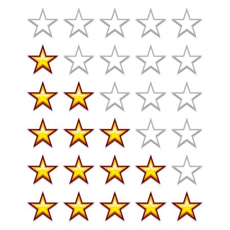 evaluacion: vectoriales simples estrellas de calificaci�n amarillas Vectores
