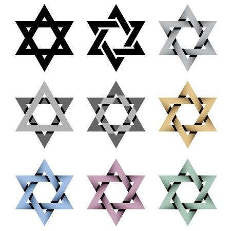 jewish holiday: vector David stars
