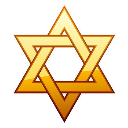 stella di davide: vettore d'oro David stelle