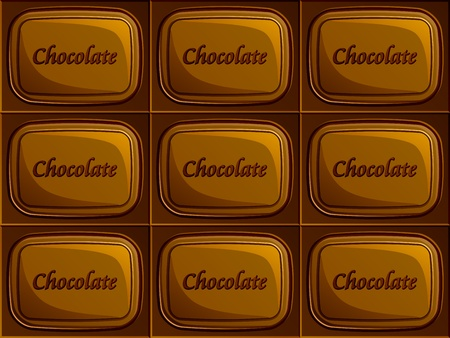 vector seamless chocolate Vector