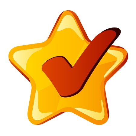 vector yellow checkmark star Vector