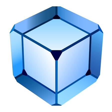 prisme: cube vecteur verre bleu
