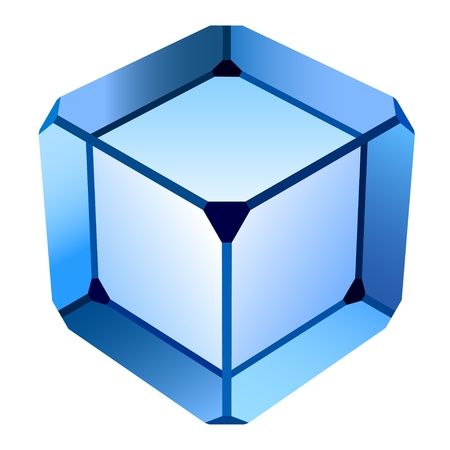 cube: vector blue glass cube