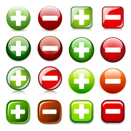 vector de agregar eliminar o mostrar ocultar los botones de colores