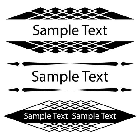 vector black ornate frames for text Stock Vector - 11564446