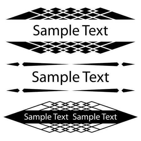 vector black ornate frames for text Vector