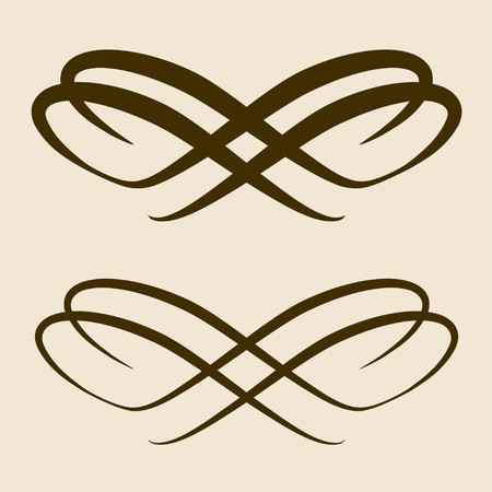 vector calligraphic bow design element Vector