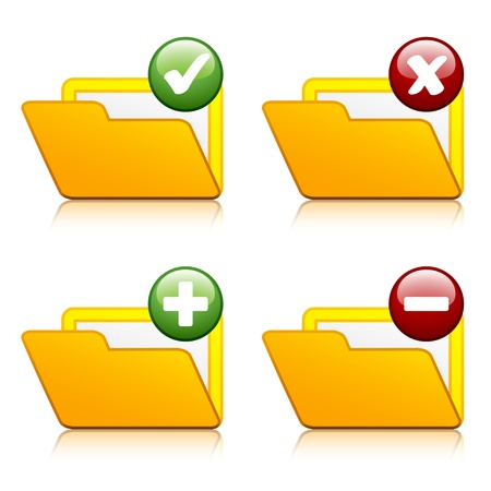 vector add delete folder icons Vector