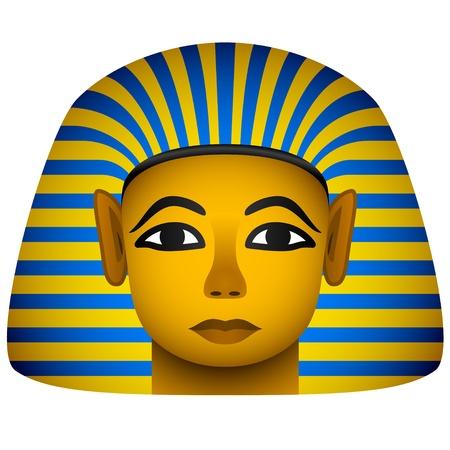 pyramide egypte: vecteur or masque du pharaon �gyptien Illustration