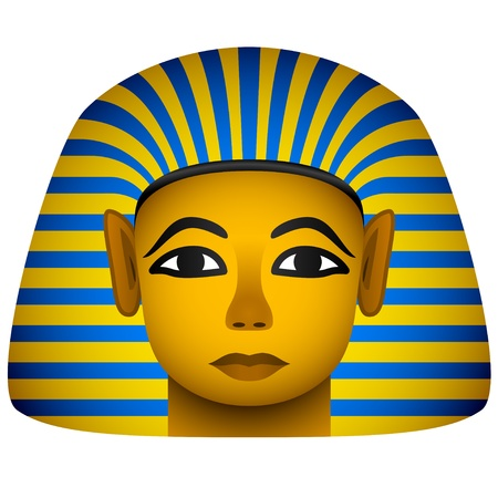 ancient egyptian culture: vector golden mask of the egyptian pharaoh