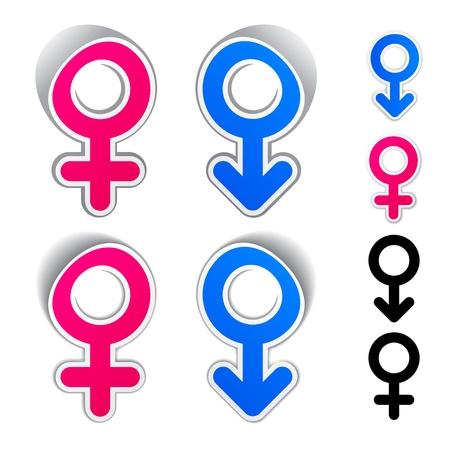 nude male: vector male female symbols