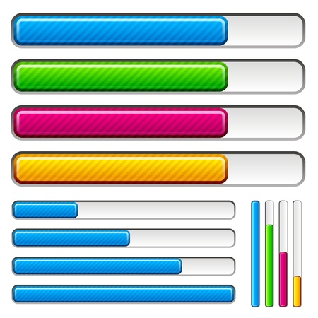 vector loading progress bars Vector