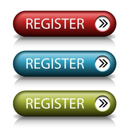 boton flecha: botones vector web con estilo y con la flecha Vectores