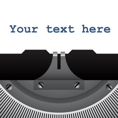 typewriter: vector de detalle de la m�quina de escribir de �poca