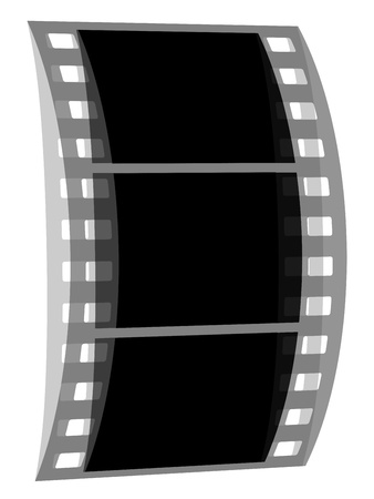 vector transparent negative film strip