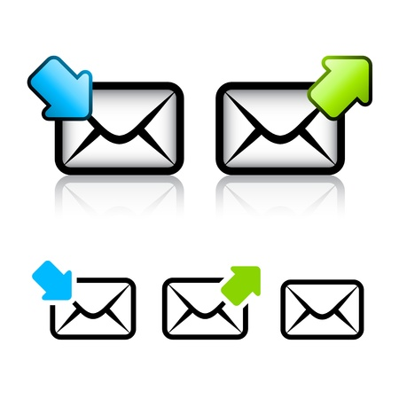 postbox: vector e-mail envelope icon Illustration