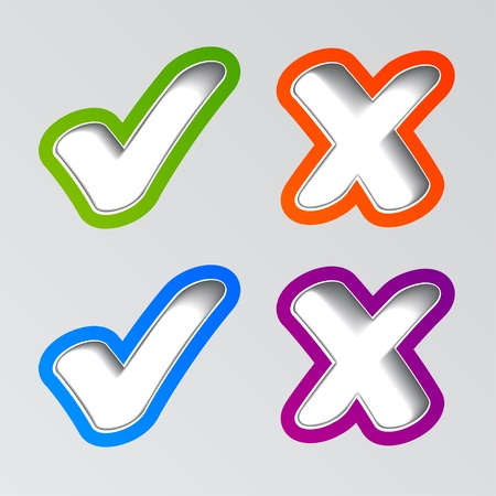 tick icon: vector stylish checkmark stickers Illustration