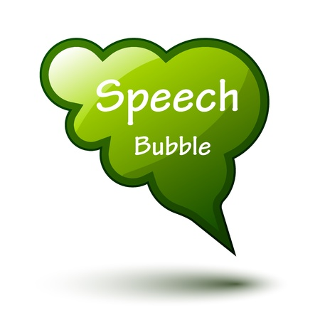 vector green glossy speech bubble Vector