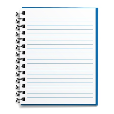 notebook page: vector blank lined notebook Illustration