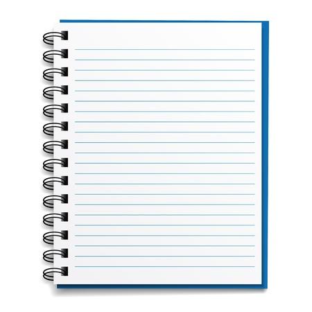cuaderno espiral: vector en blanco cuaderno rayado