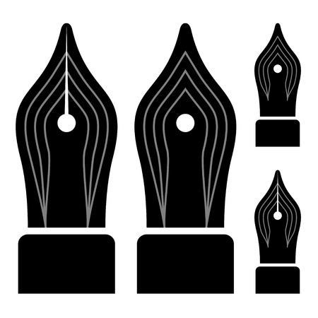 nib: vector ornate ink pen nibs