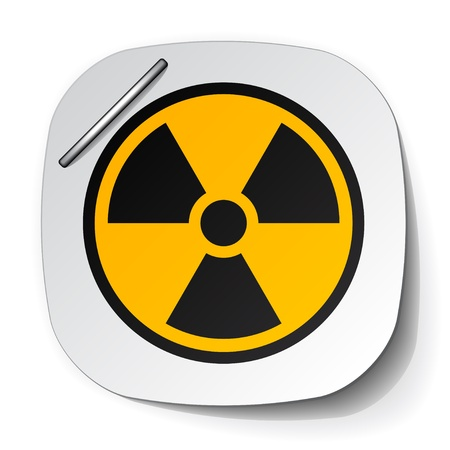 vector radiation symbol label Illustration