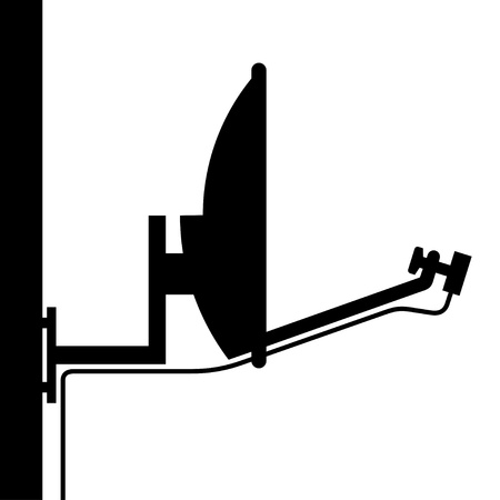 vector satellite antenna silhouette Vector