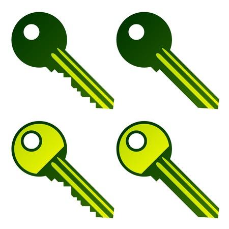 vector green house keys Stock Vector - 11563923