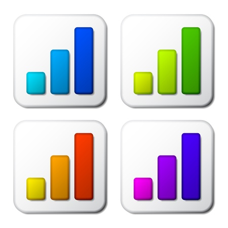 vector color graph icons