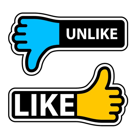 vector thumb like unlike labels Vector