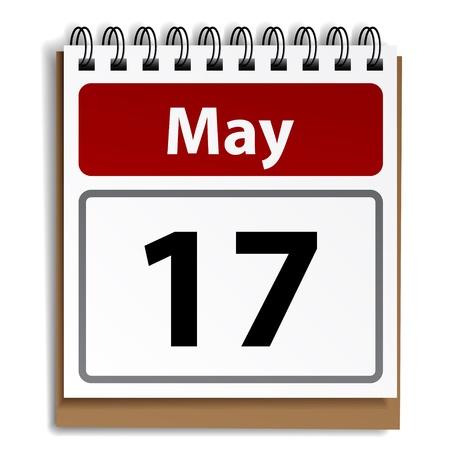 calendrier jour: Calendrier vecteur de jour d�tachable Illustration