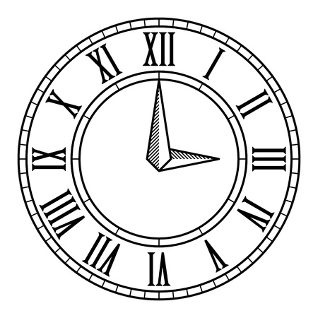 horloge ancienne: vecteur vieux cadran de l'horloge antique