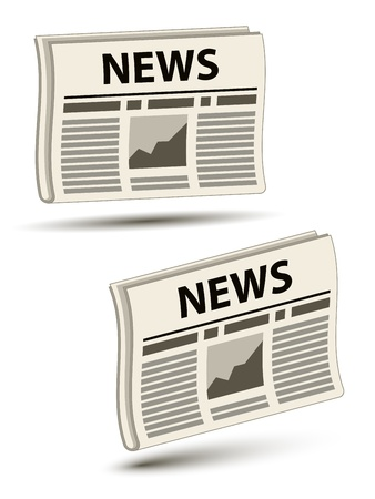 news event: vector wavy newspaper icons