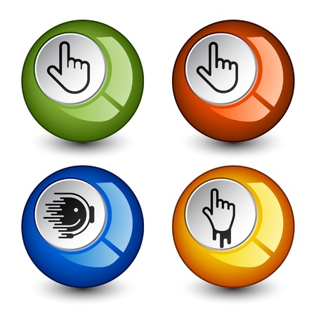 vector stylish round glossy buttons Vector
