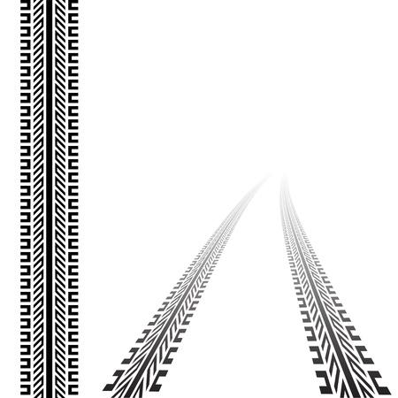 motricit�: vecteur trace des pneus Illustration