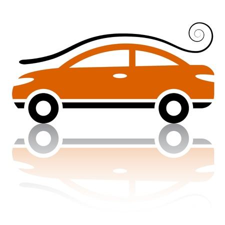 vector car with air vortex icon Vector