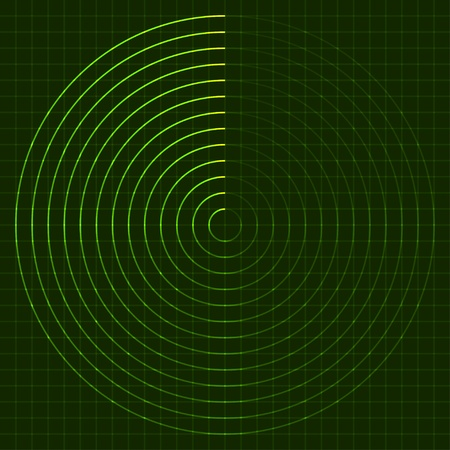 vector EPS10 radar screen Vector