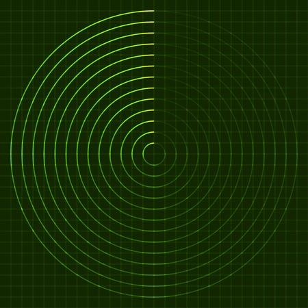 radars: vector EPS10 radar screen