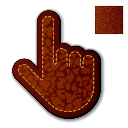vector leather click hand cursor Vector