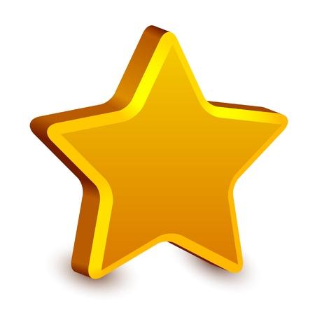 yellow star: vector 3d golden star Illustration