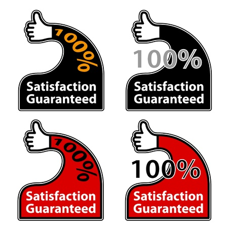 vector thumb up satisfaction guaranteed labels Stock Vector - 11564586