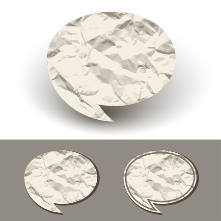 vector crumpled paper speech bubble Vector