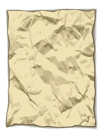 yellowed: vector crumpled yellowed paper