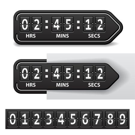 vector countdown black mechanical timer Vector
