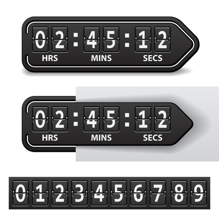 count down: vector countdown black mechanical timer