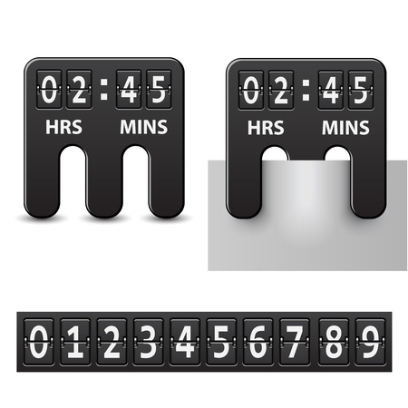 count down: vector countdown attached mechanical timer