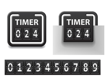 vector countdown square mechanical timer Vector