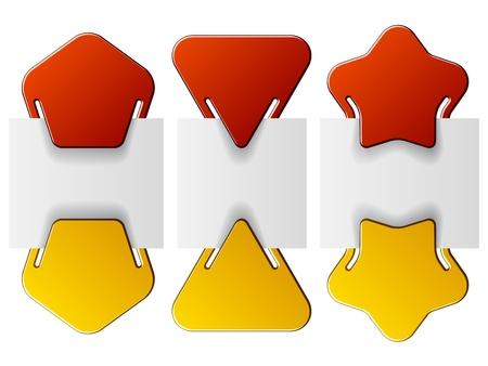 pentagon: vector attached labels - triangle pentagon star Illustration