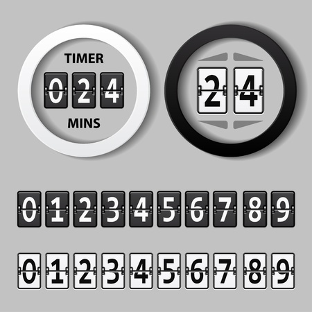 count down: vector countdown round mechanical timer Illustration