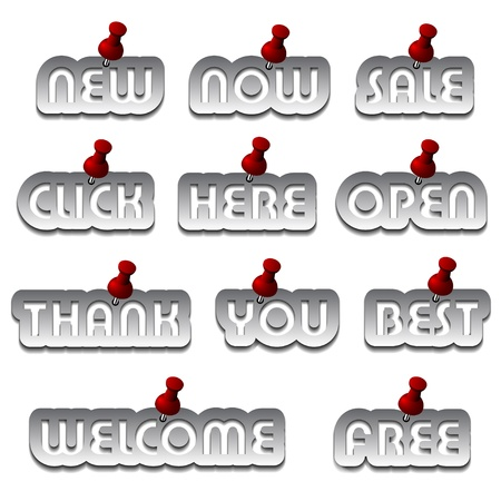 you are welcome: vector aluminum promotional stickers attached